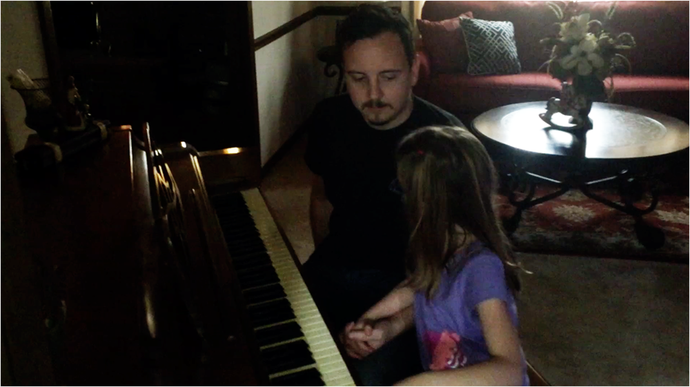Scary piano solo turns duet
