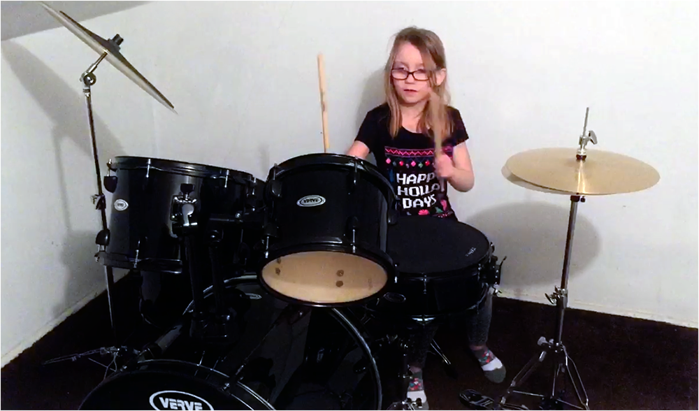 little drummer girl