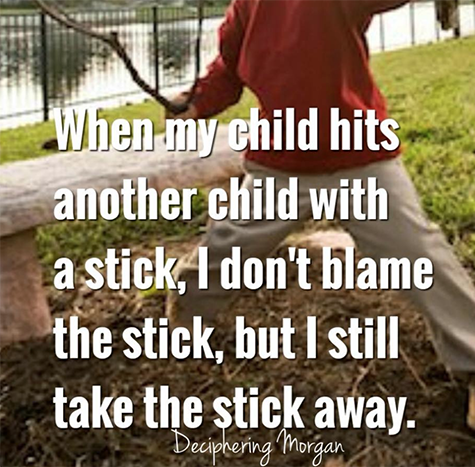 take away the stick