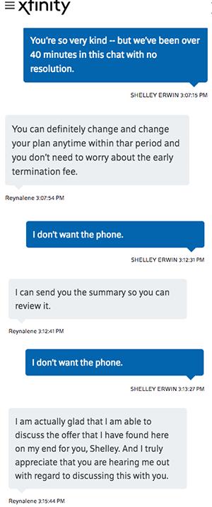 comcast chat