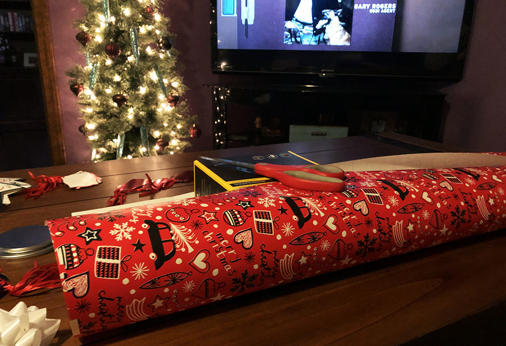 wrapping presents takes forever