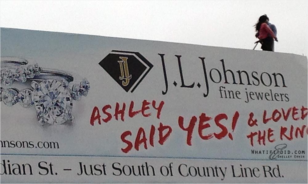 people on a billboard?