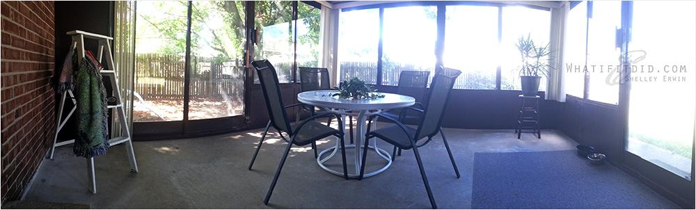 breaks in the patio room