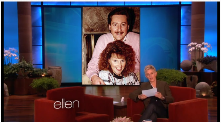 who is that with Ellen??
